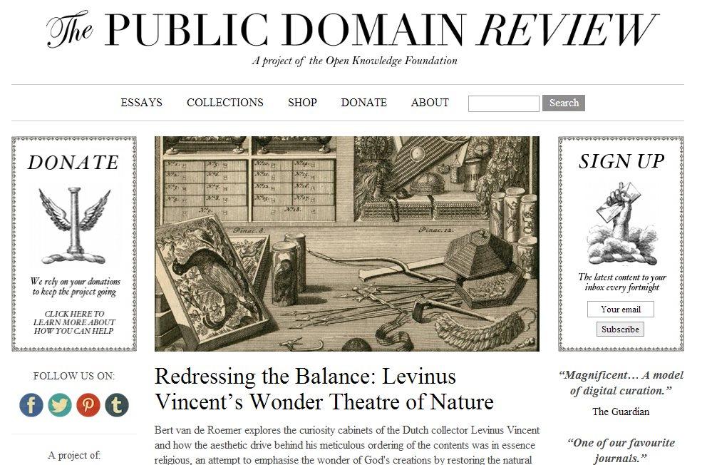 Una web con imágenes, libros, películas y grabaciones de dominio público