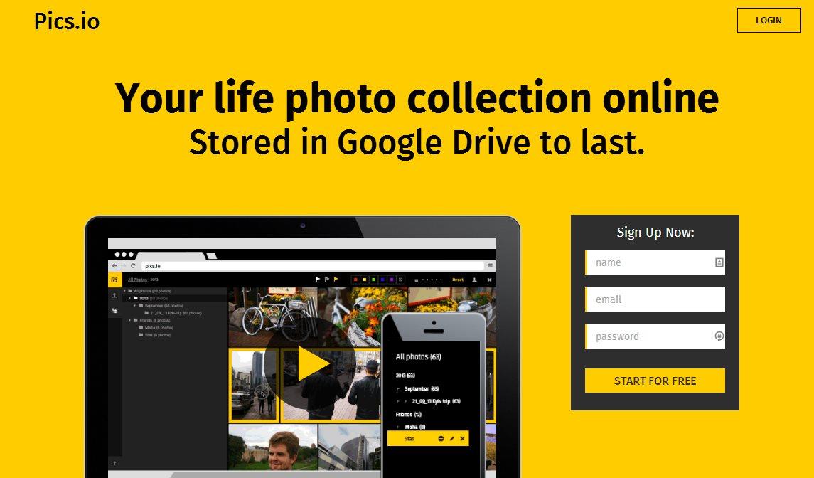 pics.io anuncia su servicio de alojamiento de fotos basado en Google Drive