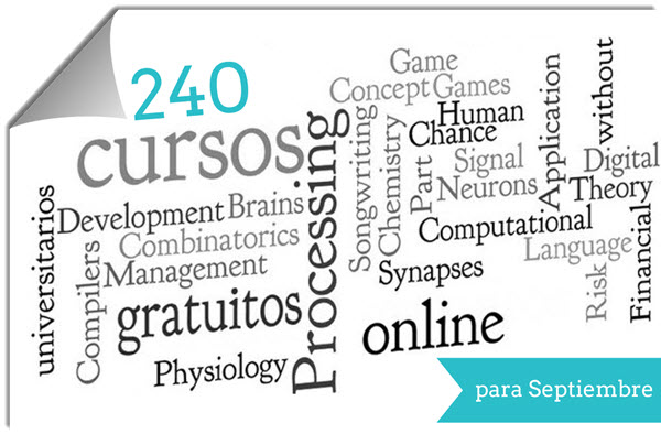 240 cursos universitarios, online y gratuitos que inician en septiembre