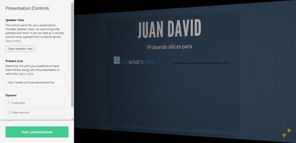 slides presentation online