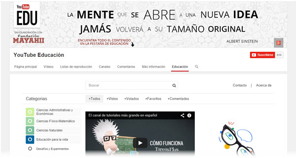 Google presenta YouTube EDU en Español