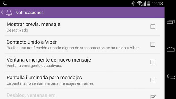 4. Deshabilitar notificaciones
