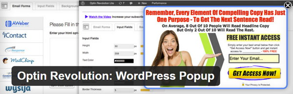Optin Revolution WordPress Popup
