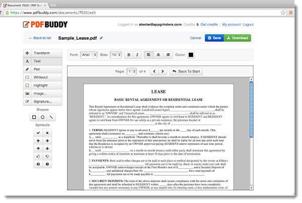 PDF Buddy, para agregar textos, imágenes y firmas a archivos PDF