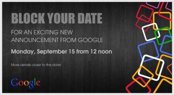 Invitación de prensa de Google