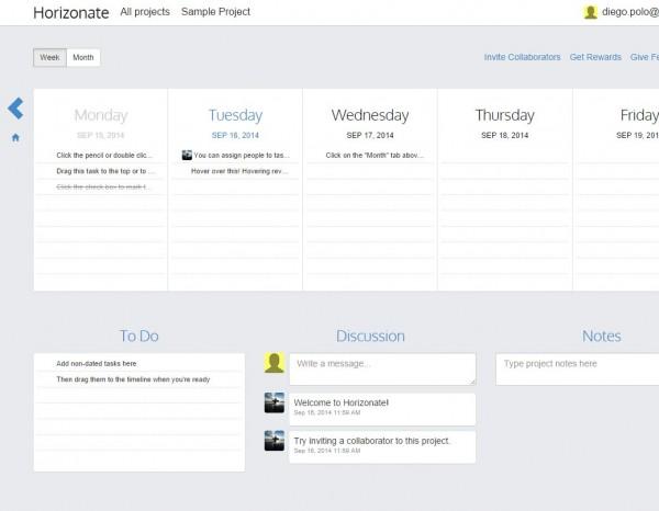 horizonate, una forma extremadamente sencilla de gestionar proyectos y