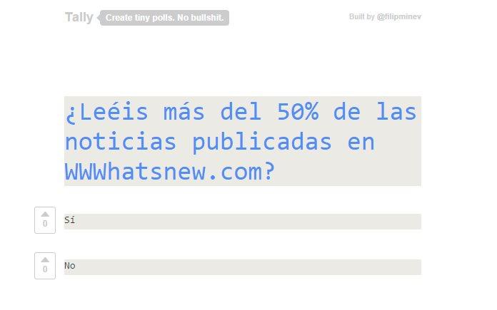 Tally, la forma más sencilla de crear y publicar encuestas en Internet