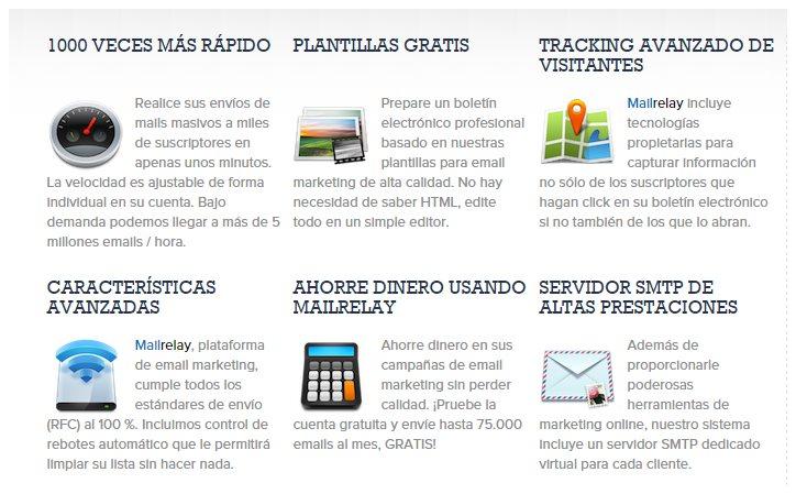 Mailrelay, sistema de email marketing para enviar 75.000 emails al mes de forma gratuita
