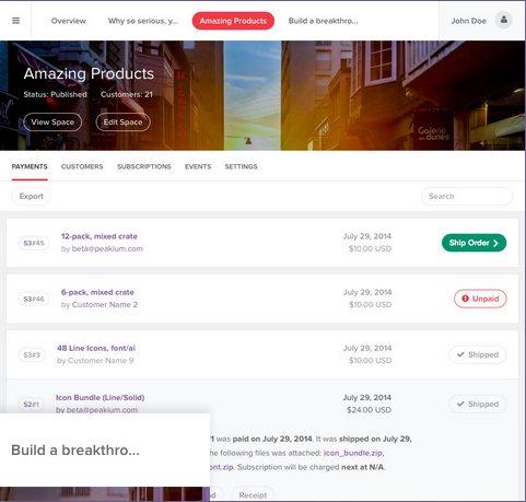 Spaces, una forma rápida de crear una página en la que vendemos cosas (físicas o digitales)
