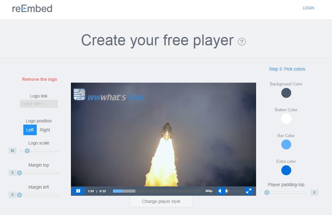 reembed – pon un reproductor de vídeo personalizado en tu sitio web