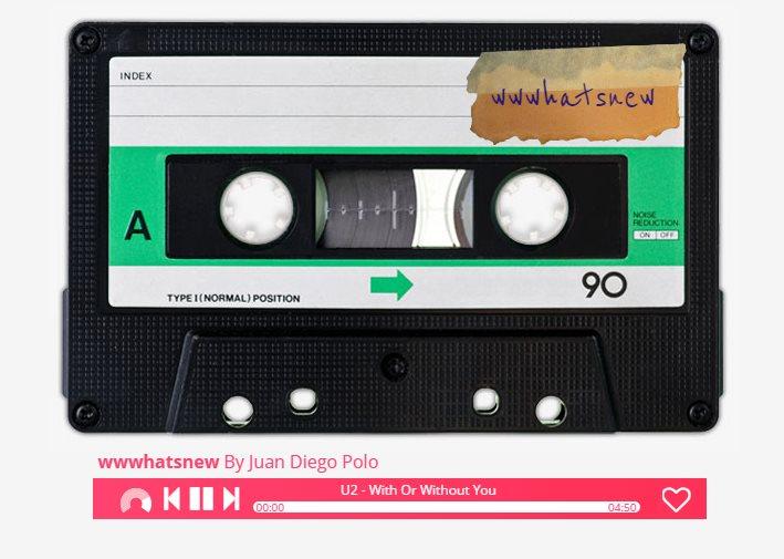 comparte listas de música dentro de un cassette virtual