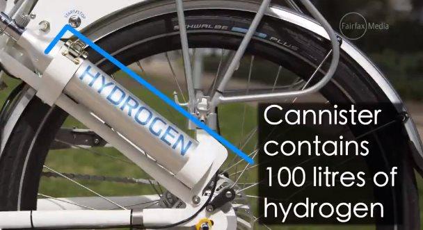 Una bicicleta que funciona con hidrógeno como combustible
