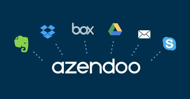 Azendoo, integrando Evernote, Box, Dropbox, Google y Skype para sincronizar sus datos