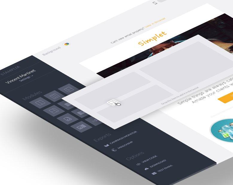 Stamplia, un editor de plantillas HTML para emails