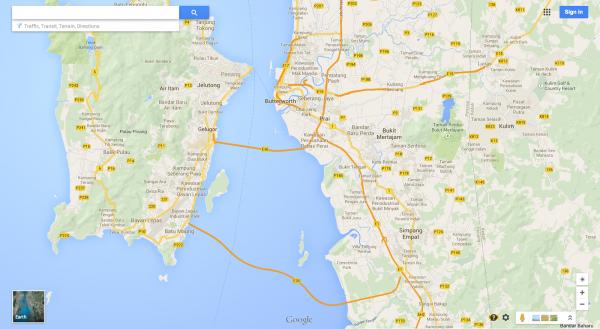 Malasia en Google Maps
