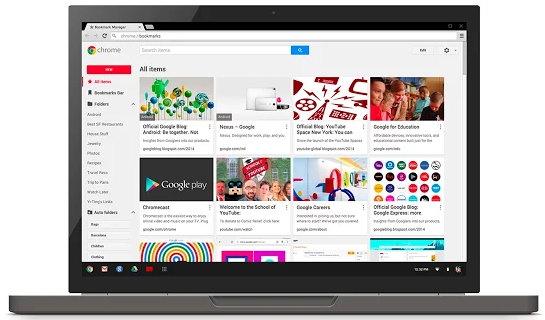 Disponible para todos la extensión oficial para la gestión de marcadores de Google Chrome