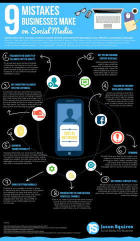 errores social media cometen empresas infografia 280