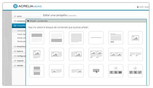 Acrelia News, plataforma de email marketing en español, con plantillas que se adaptan a móviles y tablets