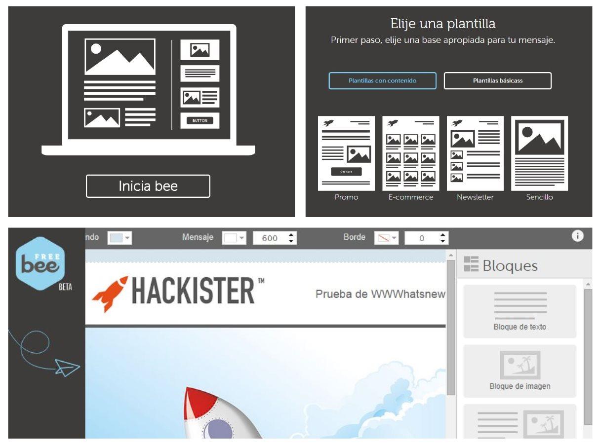 beefree, para crear emails HTML de forma sencilla