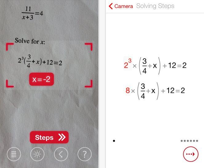 photomath, la aplicación que resuelve cálculos matemáticos haciendo fotos con el móvil