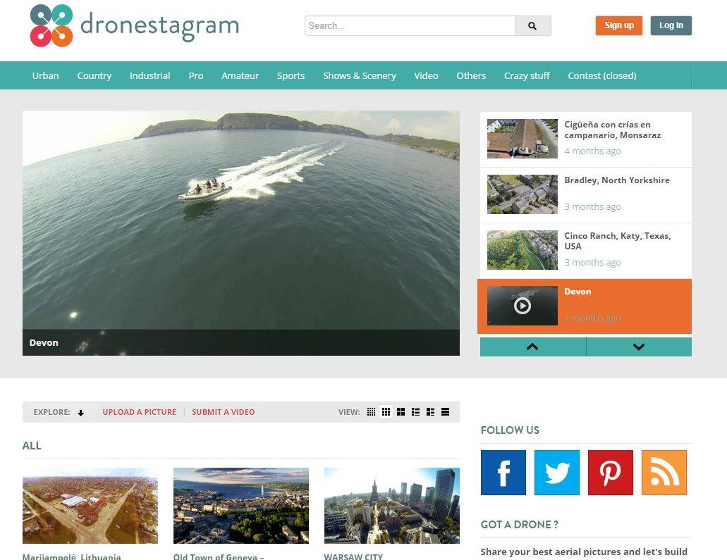 Dos sitios web creados para drones
