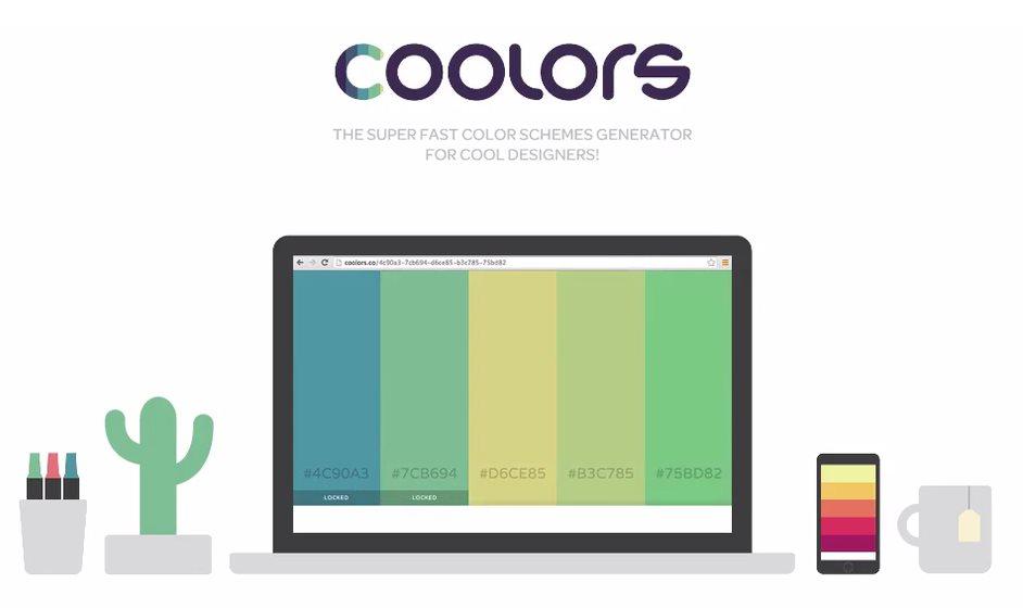 coolors, una web que nos ayuda a decidir los colores de nuestro próximo proyecto