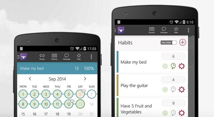 habitbull, una aplicación que ayuda a mantener buenos hábitos y eliminar los malos