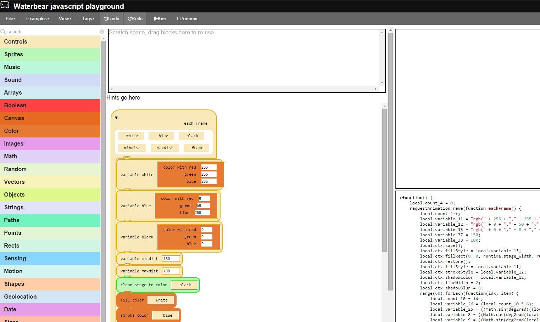 Waterbear, una aplicación web para ayudar a enseñar a programar