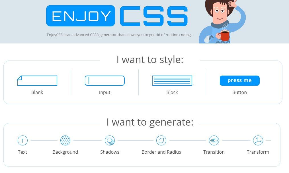 enjoycss, un editor online para generar código CSS3