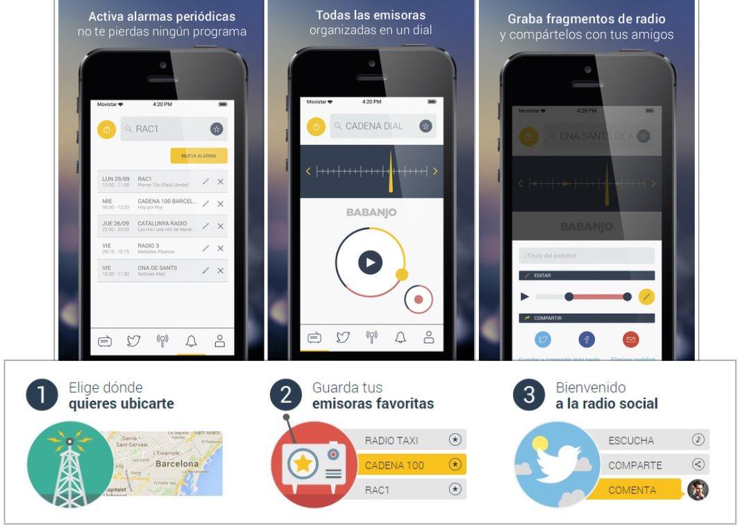Babanjo, una forma moderna y social de escuchar la radio por Internet y móvil