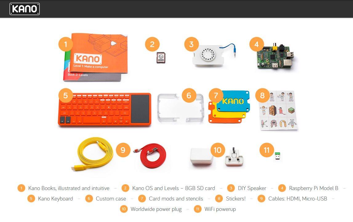 Kano, un kit para que los niños construyan su propio ordenador