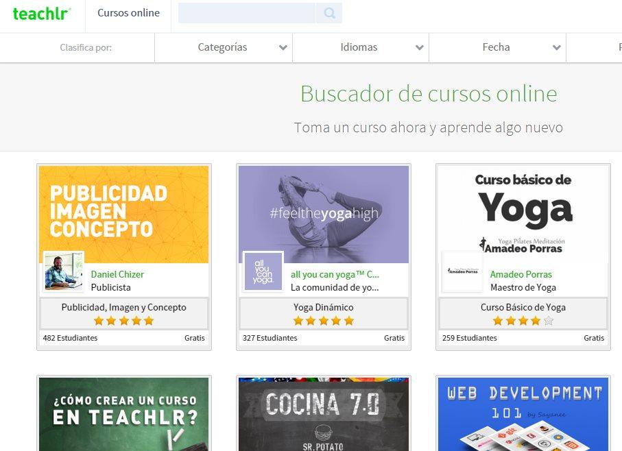 Teachlr, sitio de cursos online, muchos de ellos gratuitos