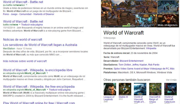 world of warcraft google