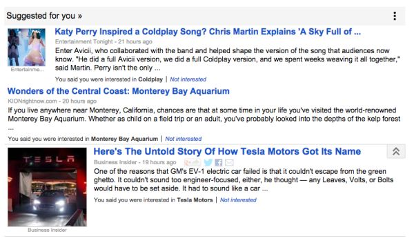 Sugerencias de Google Noticias