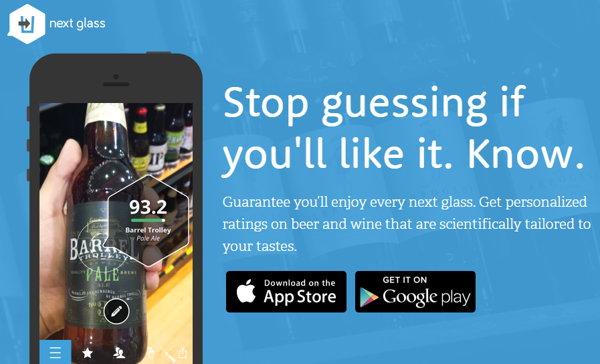 Next Glass, app móvil con recomendaciones para amantes del vino y la cerveza
