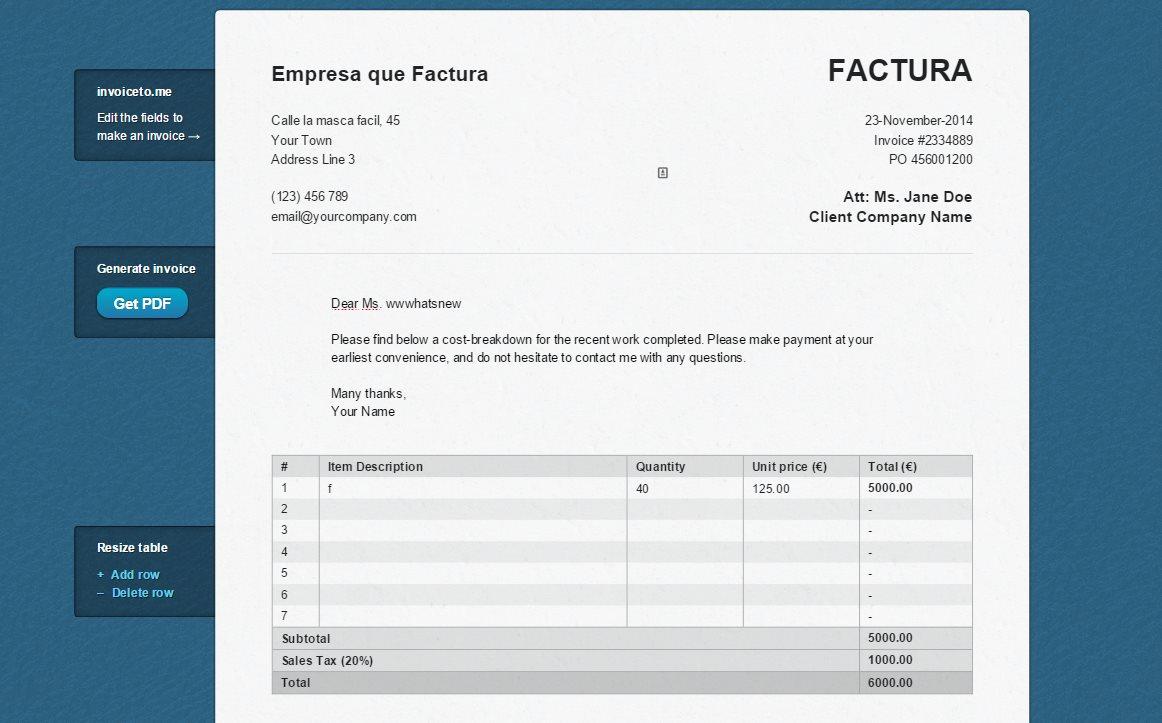 invoiceto, seguramente la forma más sencilla de hacer facturas en Internet