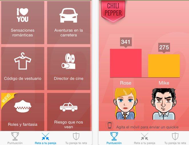 desire42, una aplicación de retos entre parejas estables