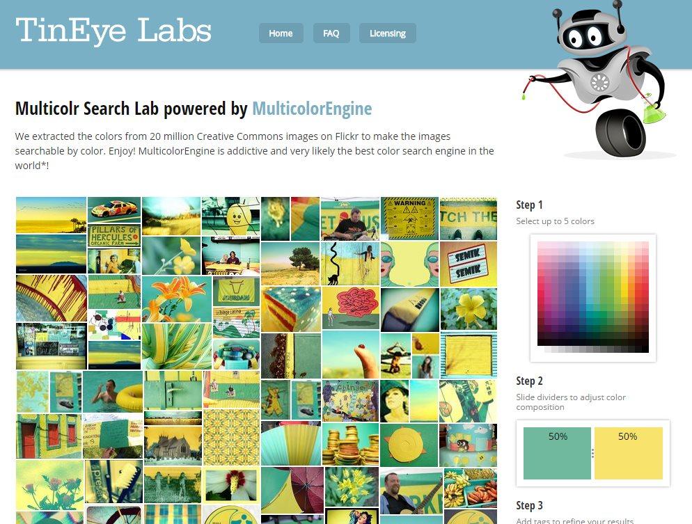 Un buscador de imágenes basado en colores