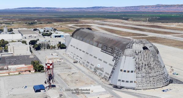 moffet nasa hangar google