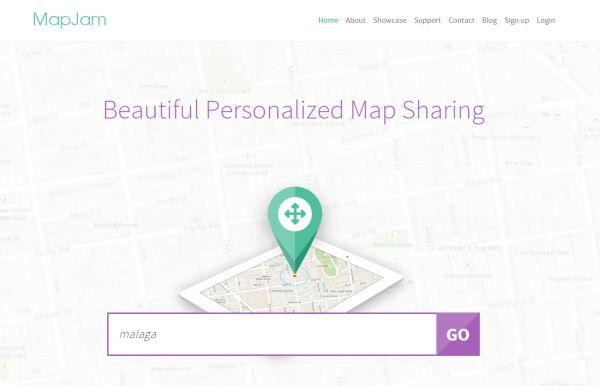 MapJam nos permite crear elegantes mapas personalizados