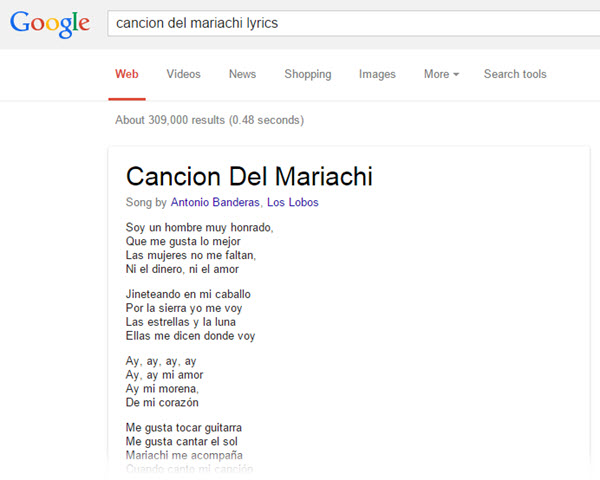 canciones google lyrics
