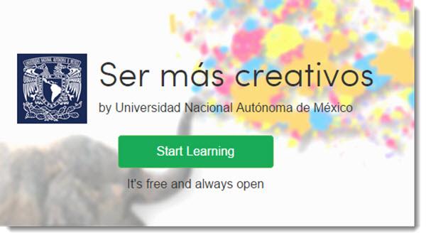 """""""Ser más creativos"""", curso online y gratuito para realizar en cualquier momento"""