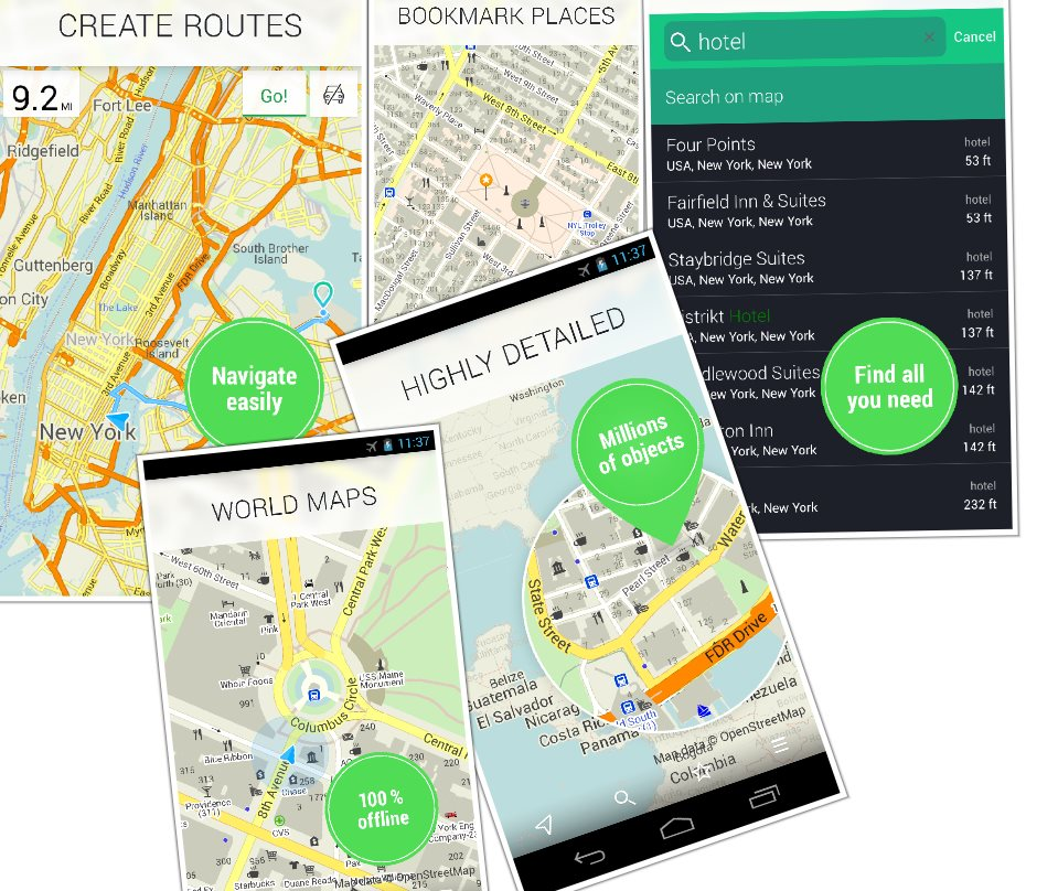 Maps.me, la app de mapas offline con ciudades de todo el mundo, ya disponible de forma gratuita