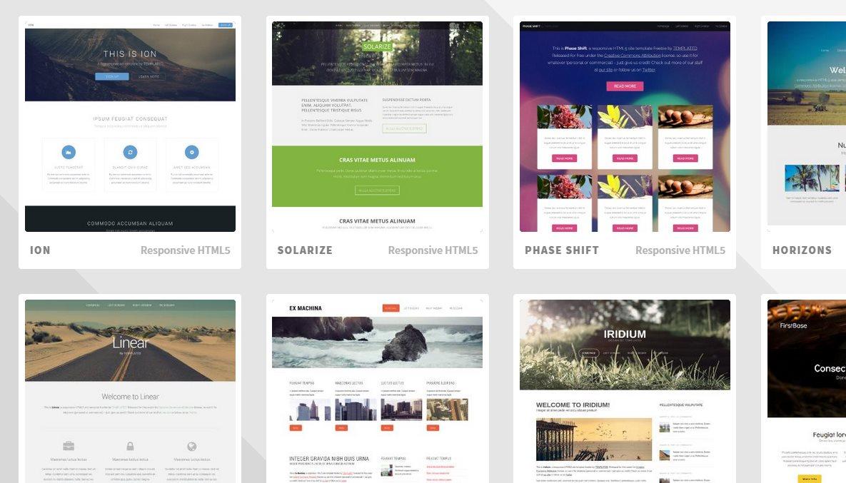 Más de 800 plantillas web gratuitas en HTML5