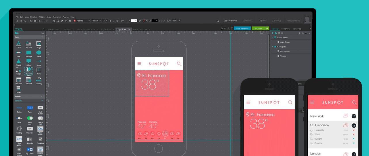 Nueva versión de Justinmind, para hacer prototipos de aplicaciones web y móviles