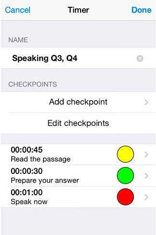Aplicación iPhone para ayudar en los exámenes TOEFL
