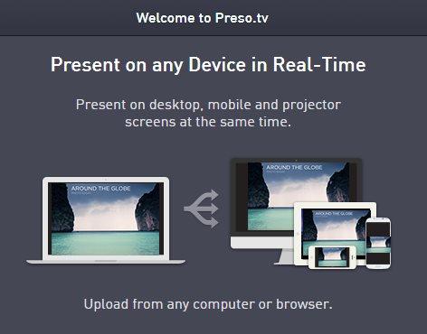Preso, una nueva forma de hacer presentaciones en la nube y sincronizarlas en todos los dispositivos