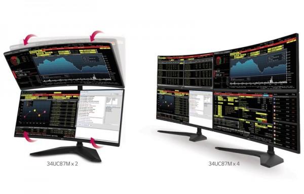 lg monitores curvos