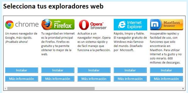 seleccionar navegador browserchoice.eu