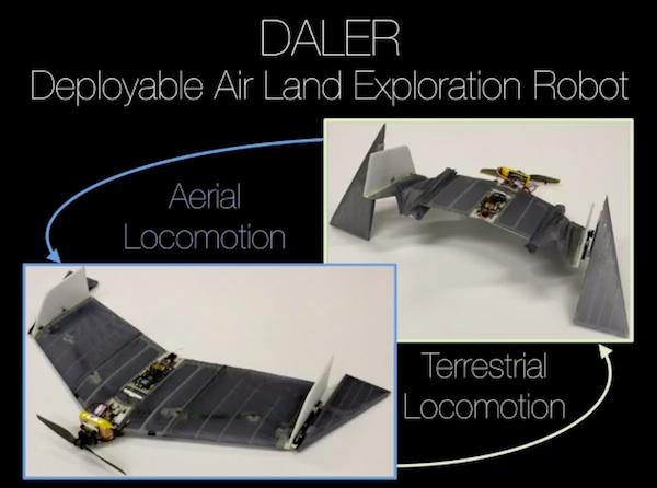 DALER, un robot con forma de murciélago capaz tanto de volar como de caminar